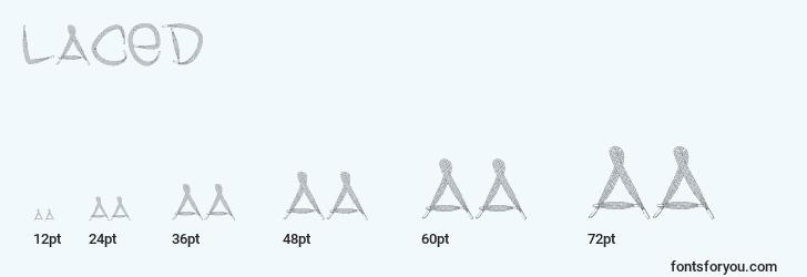 sizes of laced font, laced sizes