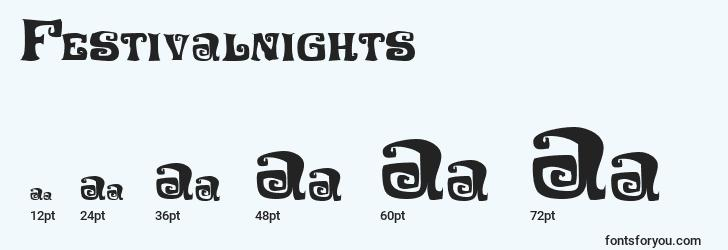 sizes of festivalnights font, festivalnights sizes