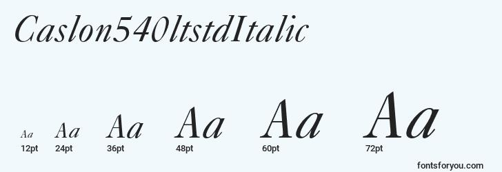 sizes of caslon540ltstditalic font, caslon540ltstditalic sizes