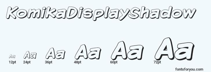 sizes of komikadisplayshadow font, komikadisplayshadow sizes