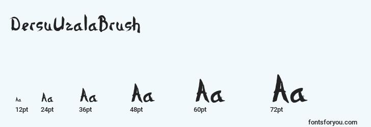 sizes of dersuuzalabrush font, dersuuzalabrush sizes