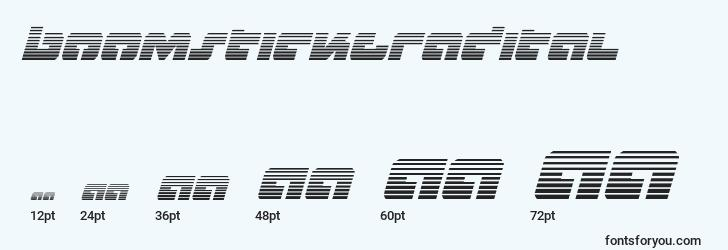 sizes of boomstickgradital font, boomstickgradital sizes