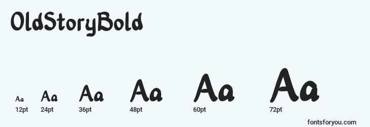 sizes of oldstorybold font, oldstorybold sizes