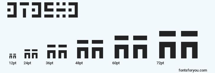 sizes of 3t35x3 font, 3t35x3 sizes
