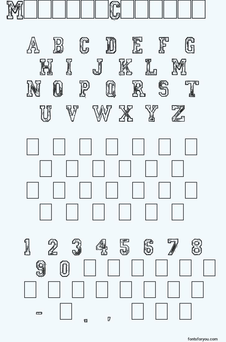 characters of mickeyscollege font, letter of mickeyscollege font, alphabet of  mickeyscollege font