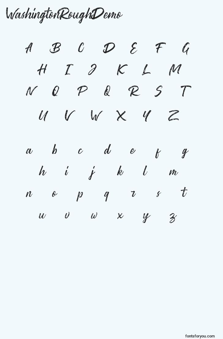 characters of washingtonroughdemo font, letter of washingtonroughdemo font, alphabet of  washingtonroughdemo font