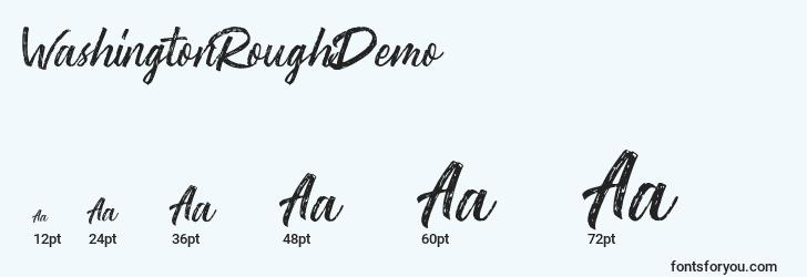 sizes of washingtonroughdemo font, washingtonroughdemo sizes