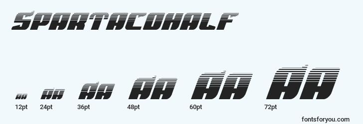 sizes of spartacohalf font, spartacohalf sizes