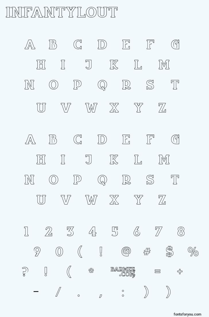 characters of infantylout font, letter of infantylout font, alphabet of  infantylout font