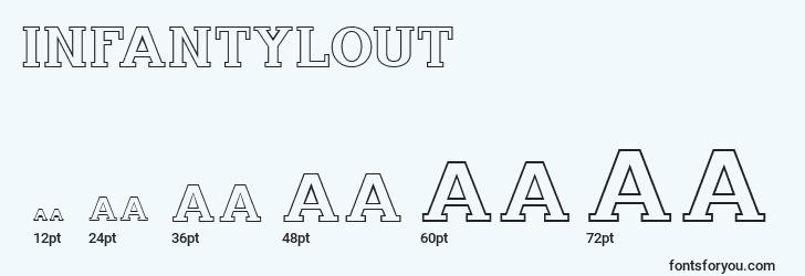 sizes of infantylout font, infantylout sizes