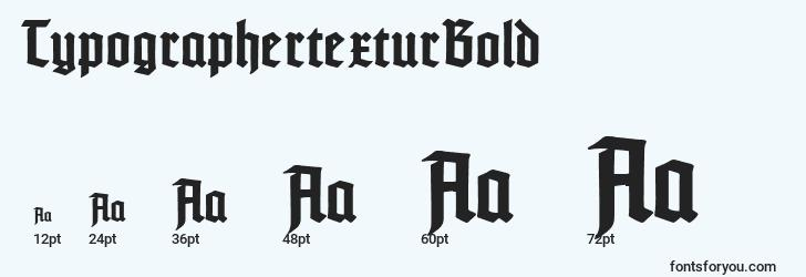 sizes of typographertexturbold font, typographertexturbold sizes