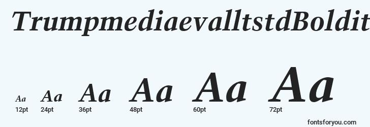 sizes of trumpmediaevalltstdboldit font, trumpmediaevalltstdboldit sizes