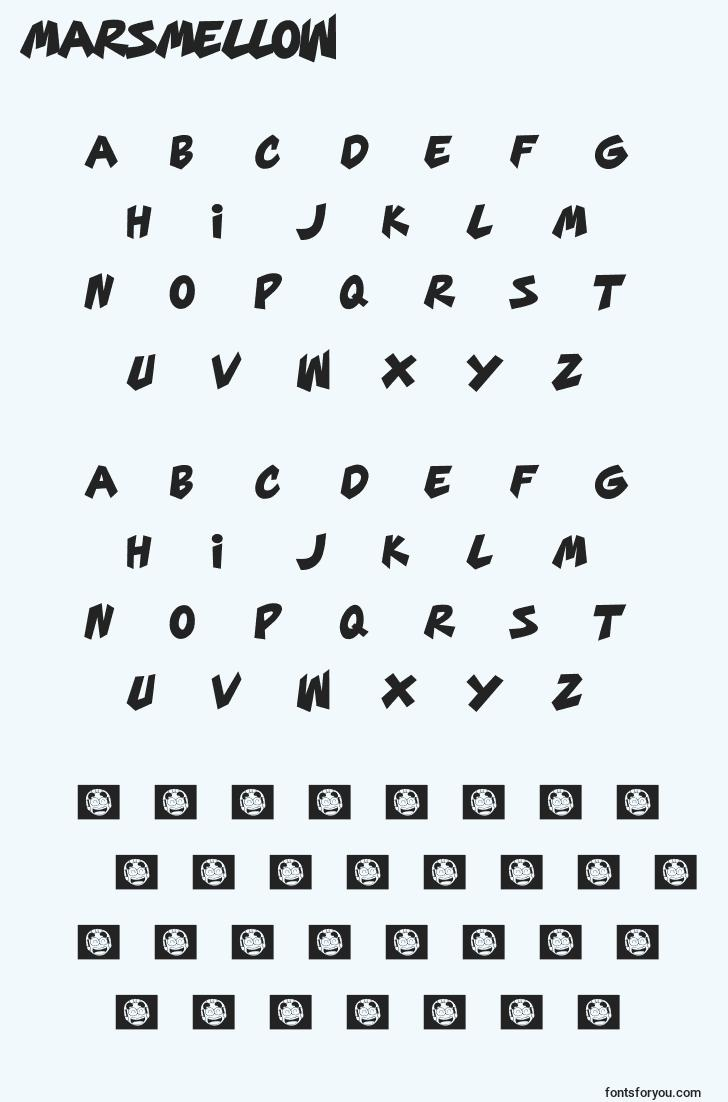 characters of marsmellow font, letter of marsmellow font, alphabet of  marsmellow font