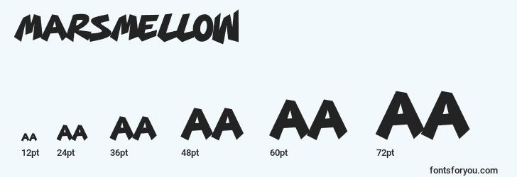 sizes of marsmellow font, marsmellow sizes