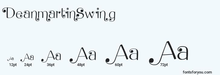 sizes of deanmartinswing font, deanmartinswing sizes