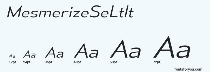 sizes of mesmerizeseltit font, mesmerizeseltit sizes