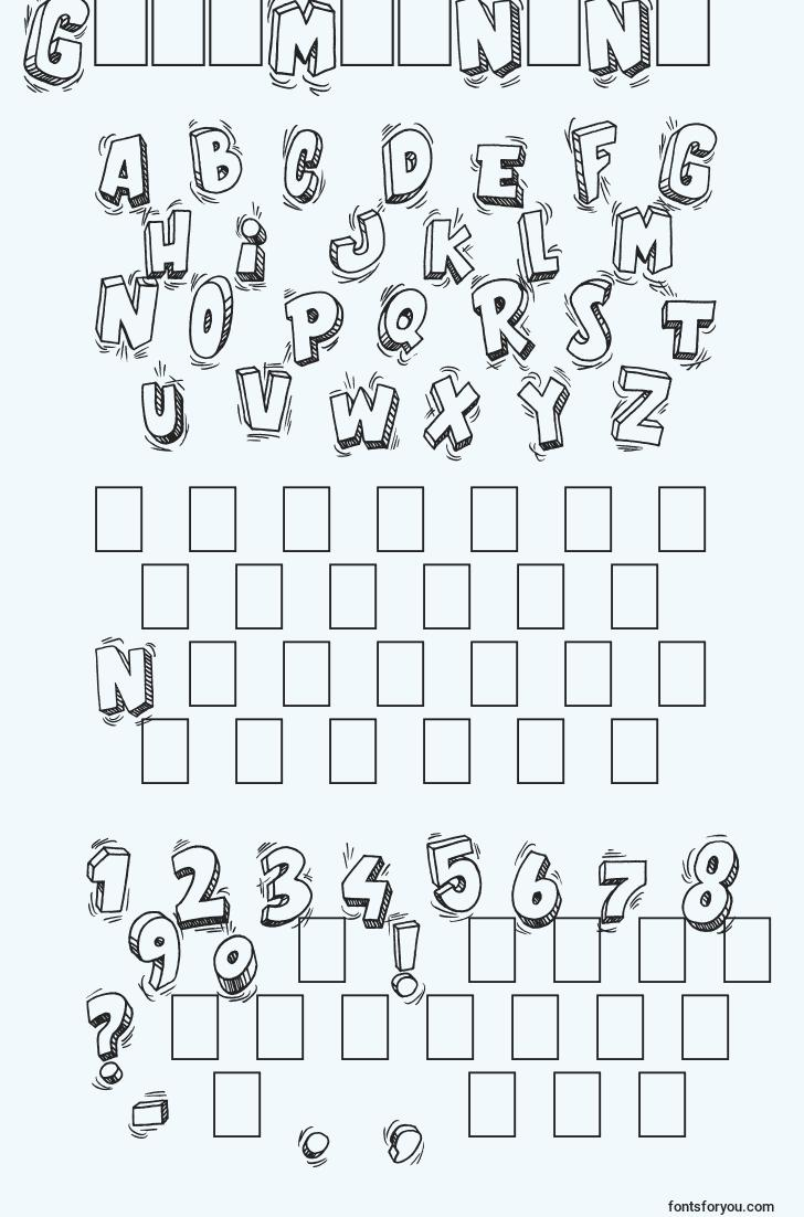 characters of goodmorning font, letter of goodmorning font, alphabet of  goodmorning font