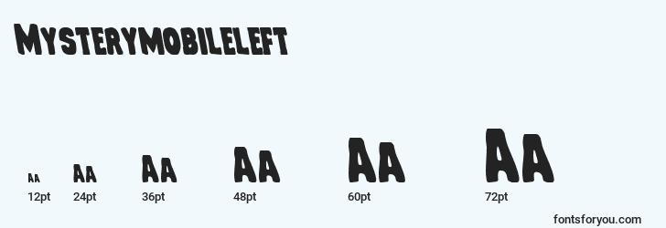 sizes of mysterymobileleft font, mysterymobileleft sizes