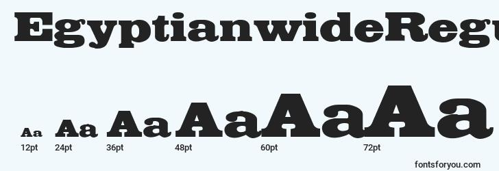 sizes of egyptianwideregular font, egyptianwideregular sizes