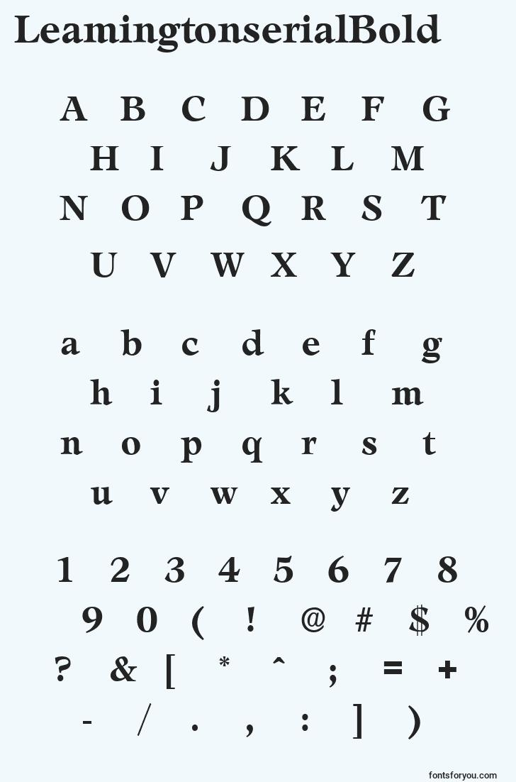 characters of leamingtonserialbold font, letter of leamingtonserialbold font, alphabet of  leamingtonserialbold font