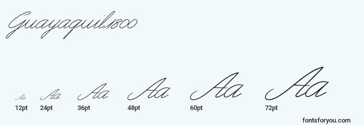 sizes of guayaquil1800 font, guayaquil1800 sizes