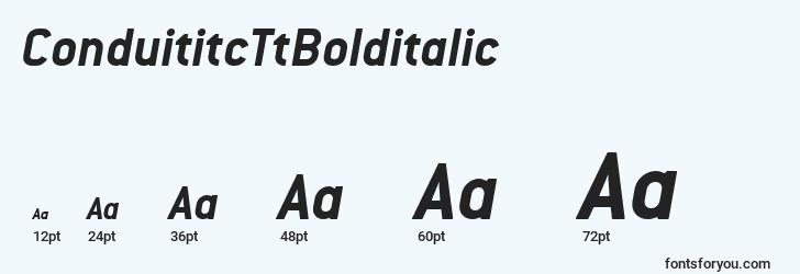 sizes of conduititcttbolditalic font, conduititcttbolditalic sizes