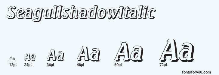 sizes of seagullshadowitalic font, seagullshadowitalic sizes