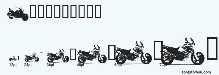 sizes of motorbikez font, motorbikez sizes