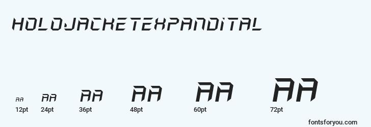sizes of holojacketexpandital font, holojacketexpandital sizes