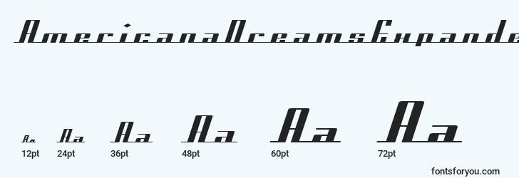 sizes of americanadreamsexpanded font, americanadreamsexpanded sizes