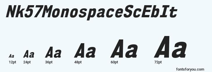 sizes of nk57monospacescebit font, nk57monospacescebit sizes