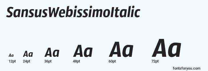 sizes of sansuswebissimoitalic font, sansuswebissimoitalic sizes