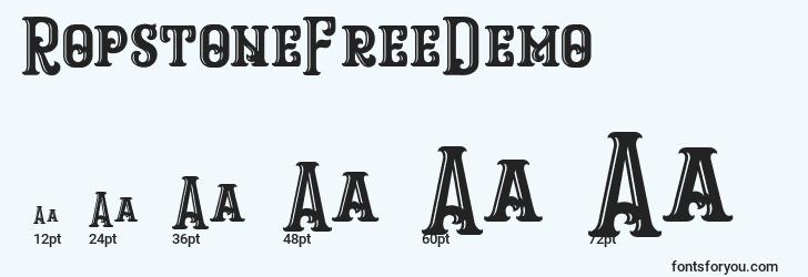 sizes of ropstonefreedemo font, ropstonefreedemo sizes