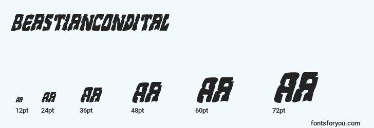 sizes of beastiancondital font, beastiancondital sizes