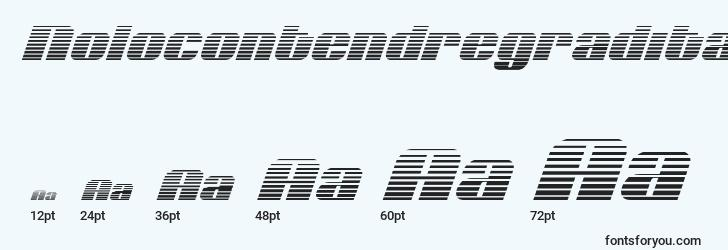sizes of nolocontendregradital font, nolocontendregradital sizes
