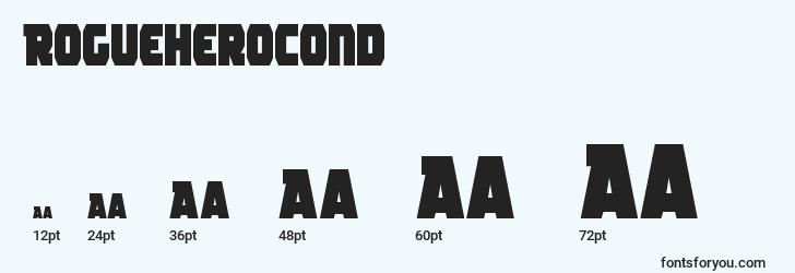 sizes of rogueherocond font, rogueherocond sizes