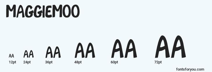 sizes of maggiemoo font, maggiemoo sizes