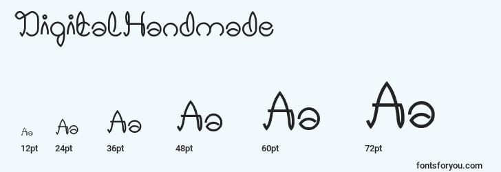 sizes of digitalhandmade font, digitalhandmade sizes