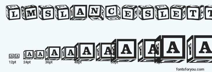 sizes of lmslancesletterblocks font, lmslancesletterblocks sizes
