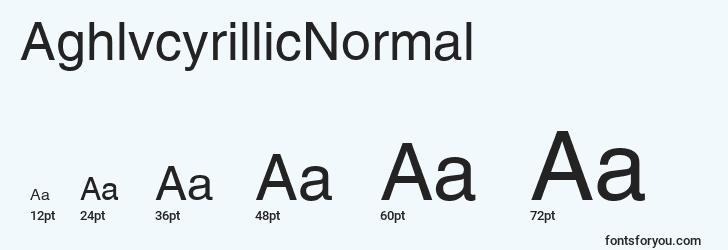 sizes of aghlvcyrillicnormal font, aghlvcyrillicnormal sizes