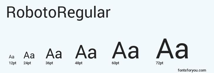 sizes of robotoregular font, robotoregular sizes