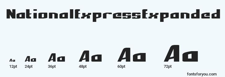 sizes of nationalexpressexpanded font, nationalexpressexpanded sizes
