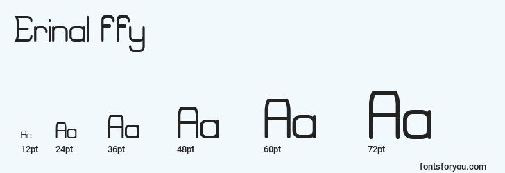 sizes of erinal ffy font, erinal ffy sizes