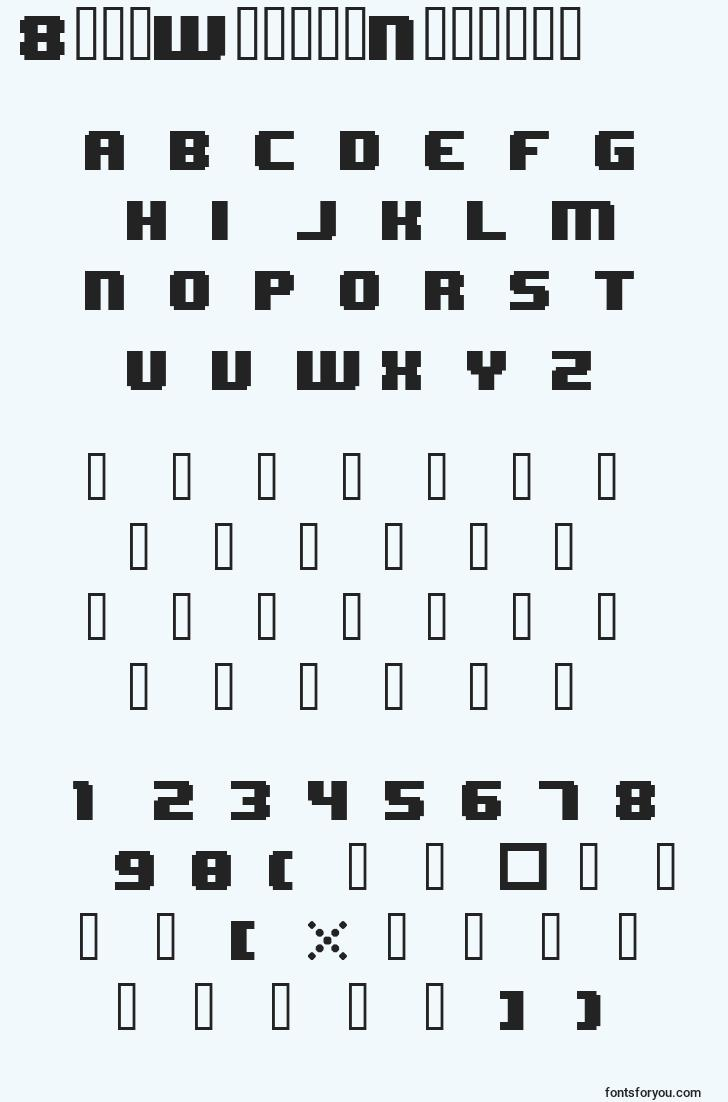 characters of 8bitwondernominal font, letter of 8bitwondernominal font, alphabet of  8bitwondernominal font