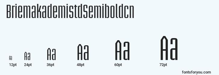 sizes of briemakademistdsemiboldcn font, briemakademistdsemiboldcn sizes