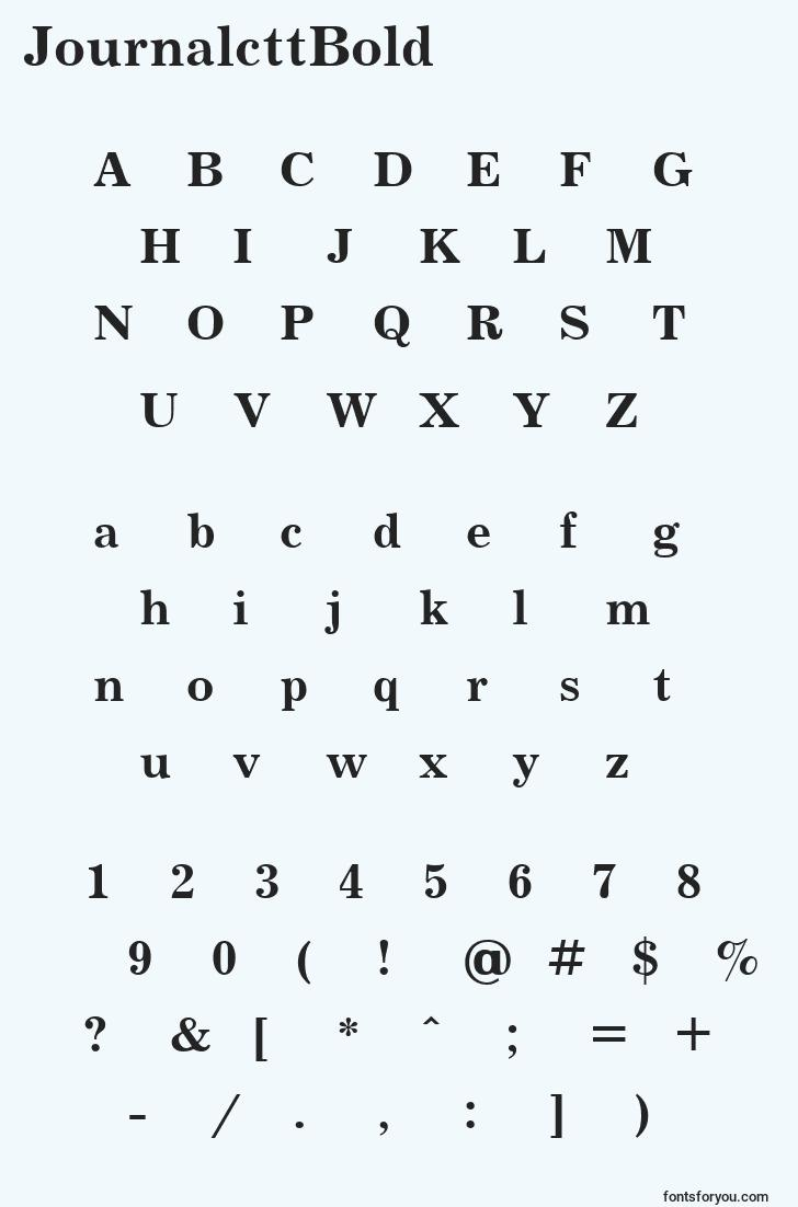 characters of journalcttbold font, letter of journalcttbold font, alphabet of  journalcttbold font