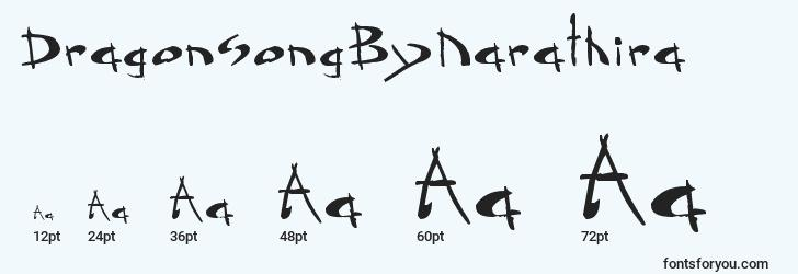 sizes of dragonsongbynarathira font, dragonsongbynarathira sizes