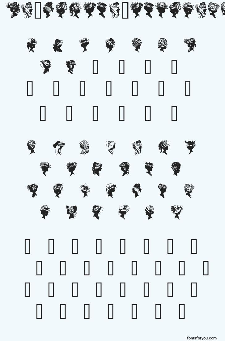 characters of geprofilesilhouettes font, letter of geprofilesilhouettes font, alphabet of  geprofilesilhouettes font