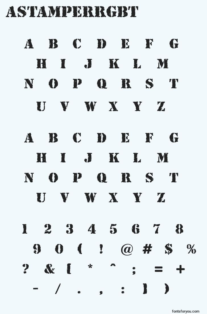 characters of astamperrgbt font, letter of astamperrgbt font, alphabet of  astamperrgbt font