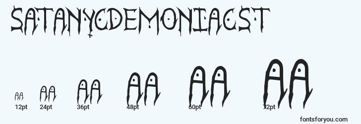 sizes of satanycdemoniacst font, satanycdemoniacst sizes